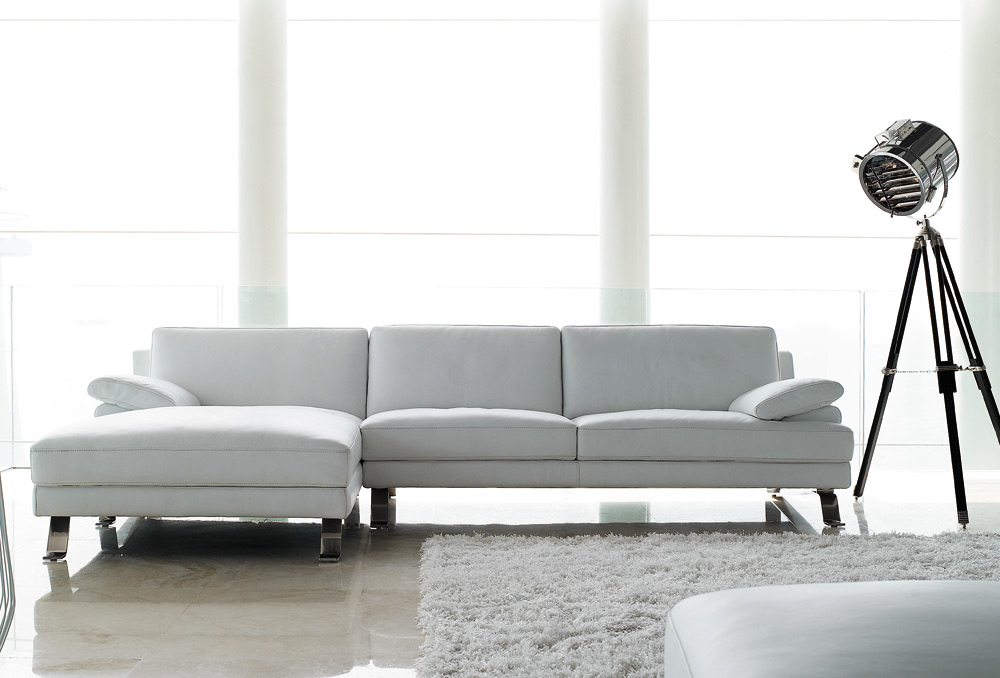 Sofas Giano Leather Chaise Lounge Sofa Sofa