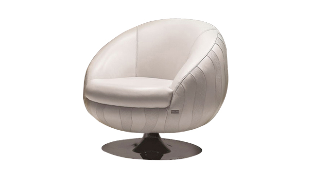 white leather round chair armchairs enego ii pure white leather single swivel 22009 | enego ii leather round armchair furniture
