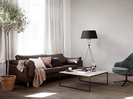 Indivi-2 Scandinavian leather sofa
